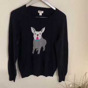 J. Crew Factory warmspun intarsia bulldog sweater